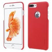 Til  Iphone 7 plus cover noble læder rød Mobiltelefon tilbehør