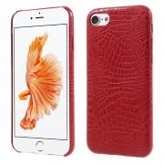 Iphone 7 cover alligator læder rød Mobiltelefon tilbehør leveso.dk