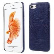 Iphone 7 cover alligator læder blå Mobiltelefon tilbehør leveso.dk