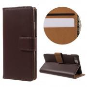 Iphone 7 cover i split læder brun Mobiltelefon tilbehør