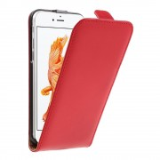 Iphone 7 cover vertikal flip rød Mobiltelefon tilbehør