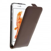 Iphone 7 cover vertikal flip brun Mobiltelefon tilbehør