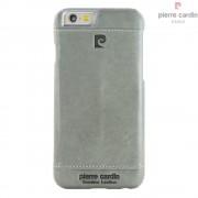 Iphone SE, 5S cover Pierre Cardin wax design læder grå Mobiltelefon tilbehør