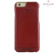 Iphone SE, 5S cover Pierre Cardin wax design læder rød Mobiltelefon tilbehør
