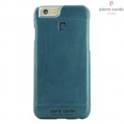 Iphone SE, 5S cover Pierre Cardin wax design læder blå Mobiltelefon tilbehør