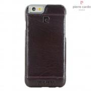Iphone SE, 5S cover Pierre Cardin wax design læder mørkelilla Mobiltelefon tilbehør