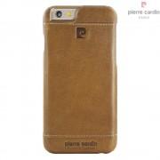 Iphone 6, 6S cover Pierre Cardin wax design læder khaki Mobiltelefon tilbehør