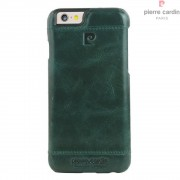 Iphone 6, 6S cover Pierre Cardin wax design læder grøn Mobiltelefon tilbehør