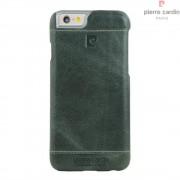 Iphone 6, 6S cover Pierre Cardin wax design læder lysegrøn Mobiltelefon tilbehør