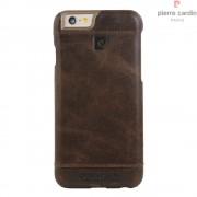 Iphone 6, 6S cover Pierre Cardin wax design læder brun Mobiltelefon tilbehør