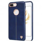 Iphone 7 plus cover Englon læder blå Mobiltelefon tilbehør