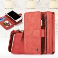 2 i 1 multi cover vintage Iphone 8 rød