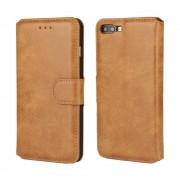 Iphone 7 plus etui mat vintage med lommer brun Mobiltelefon tilbehør
