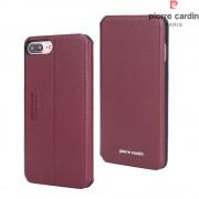 Iphone 7 plus etui Pierre Cardin design rød Mobiltelefon tilbehør