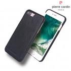 Iphone 7 plus cover Pierre Cardin wax design læder sort Mobiltelefon tilbehør Leveso.dk