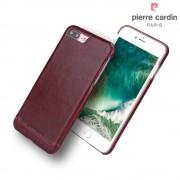 til Iphone 7 plus cover original Pierre Cardin wax design læder vinrød Mobil tilbehør Leveso.dk