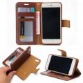 Iphone 8 plus / 7 plus cover - etui 2 i 1 brun