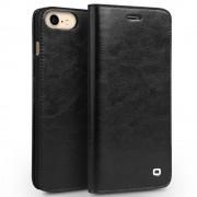 Iphone 7 premium læder cover med kort holder sort Mobiltelefon tilbehør