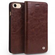 Iphone 7 premium læder cover med kort holder brun Mobiltelefon tilbehør Leveso.dk