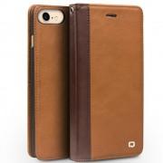 Iphone 7 cover style ægte læder lysebrun Mobiltelefon tilbehør