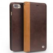 Iphone 7 plus cover style ægte læder mørkebrun Apple Iphone Mobil tilbehør Leveso.dk
