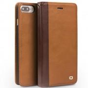 Iphone 7 plus cover style ægte læder brun Mobiltelefon tilbehør
