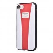 Iphone 7 bag cover Aston Martin Racing Leveso.dk Mobiltelefon tilbehør hvid-rød