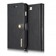 Iphone 7 plus 2 i 1 etui med aftagelig bag cover sort Mobiltelefon tilbehør