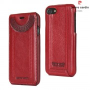 Til Iphone 7 rød cover vertikal flip Pierre Cardin, Apple Iphone 7 Mobil tilbehør hos Leveso.dk