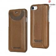 til Iphone 7 cover vertikal flip brun Pierre Cardin, Apple Iphone 7 Mobil tilbehør hos Leveso.dk
