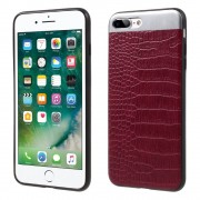Iphone 7 plus rød cover combo croco Apple Iphone Mobil tilbehør Leveso.dk