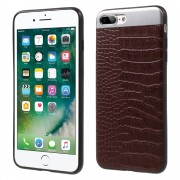 Til Iphone 7 plus mocca cover combo croco Mobiltelefon tilbehør