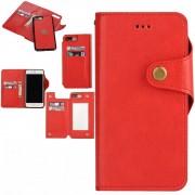 Iphone 7 Plus cover - pung 2 i 1 rød Mobil tilbehør