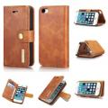 2 i 1 cover Iphone SE / 5 / 5S ægte læder brun
