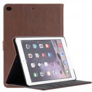 Ipad 9,7 2017 retro cover med lommer mørkebrun Tabletcovers