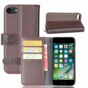 Klassisk læder flipcover Iphone 8 / 7 brun Mobilcovers