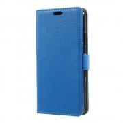 til Iphone X klassisk flip cover med lommer blå Mobilcovers
