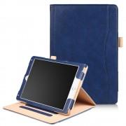 Ipad 9.7 2017 flip cover med stor lomme blå Tabletcovers