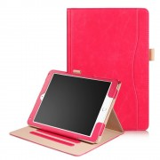 Ipad 9.7 2017 flip cover med stor lomme rød Tabletcovers