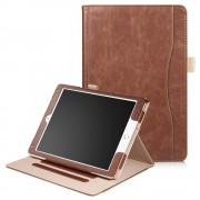 Ipad 9.7 2017 flip cover med stor lomme brun Tabletcovers