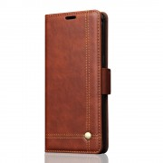 Sting line flip cover brun til Galaxy Note 8 Mobilcovers