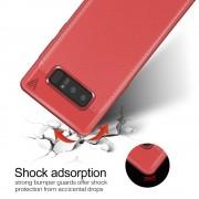 Galaxy Note 8 cover tpu læder rød Mobilcover