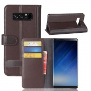 Galaxy Note 8 flip cover split læder brun Mobilcovers