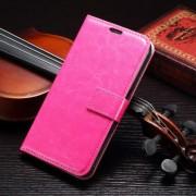SAMSUNG GALAXY S7 læder cover med kort lommer, rosa Mobiltelefon tilbehør