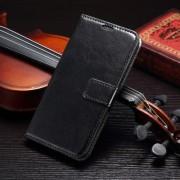 SAMSUNG GALAXY S7 EDGE læder cover med kort lommer, sort Mobiltelefon tilbehør
