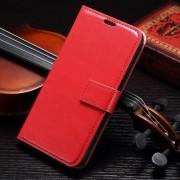SAMSUNG GALAXY S7 EDGE læder cover med kort lommer, rød Mobiltelefon tilbehør