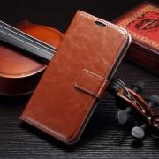 SAMSUNG GALAXY S7 EDGE læder cover med kort lommer, brun Mobiltelefon tilbehør