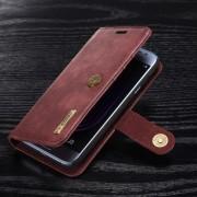 Galaxy J3 2017 flip cover ægte split læder rød Mobilcovers