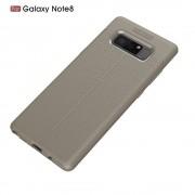 Galaxy Note 8 cover tpusting  læder grå Mobilcover