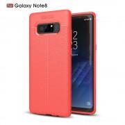 Galaxy Note 8 cover tpu sting læder rød Mobilcover